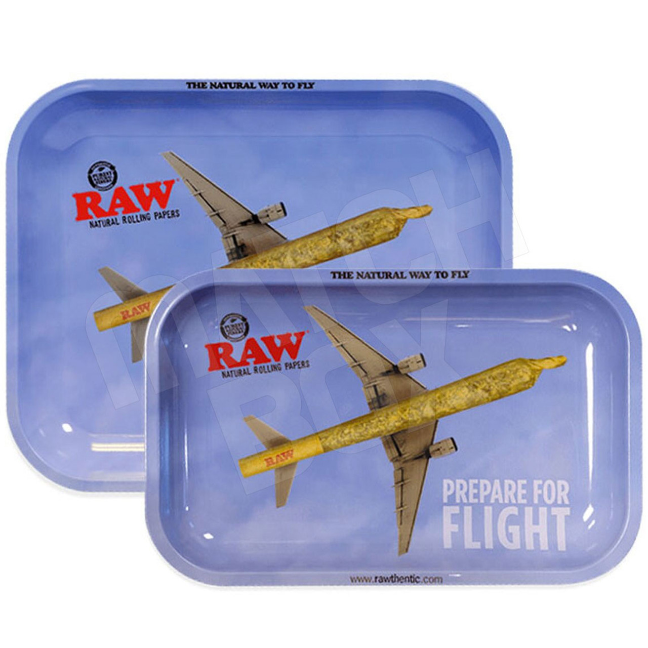 RAW Tray Prepare for Flight LARGE AND SMALL