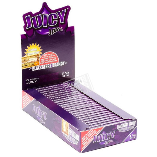 Juicy Jay's 1¼ Blackberry Brandy Flavoured Paper Full Box