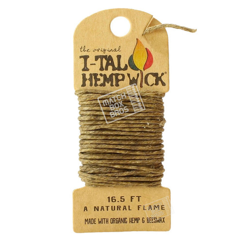 I-Tal Hemp Wick Large (16.5ft) Single Pack