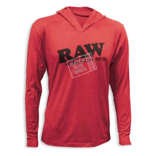 RAW Lightweight Hoodie Heather Red
