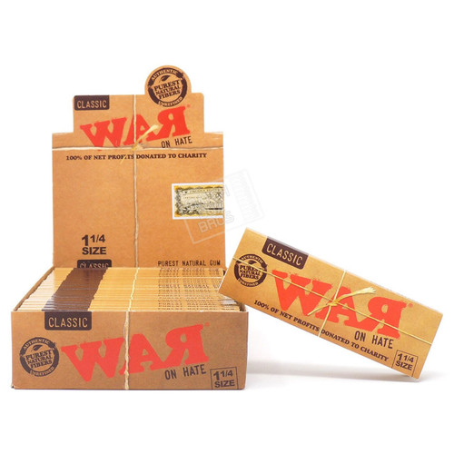 RAW War on Hate 1 1/4 Rolling Paper Full Box
