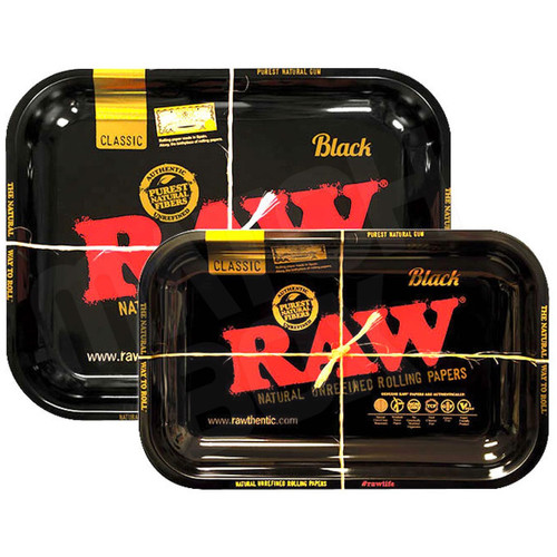 RAW BLACK TRAY LARGE AND SMALL