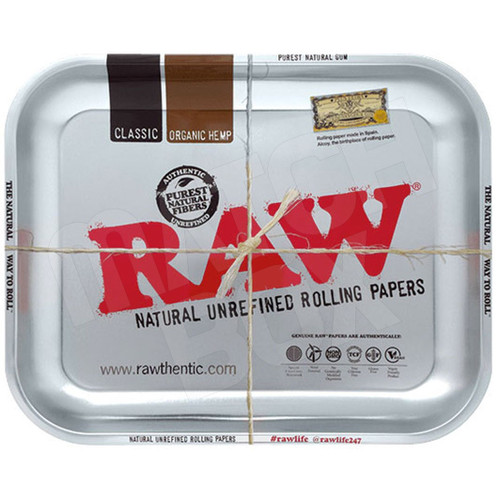 RAW METALLIC TRAY LARGE