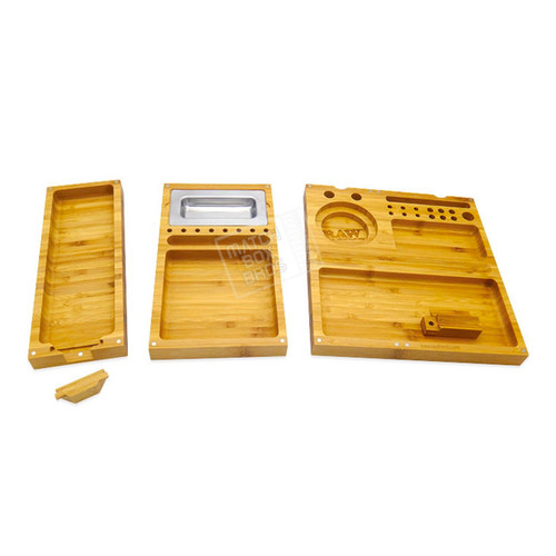 RAW Triple Flip Bamboo Rolling Tray 02