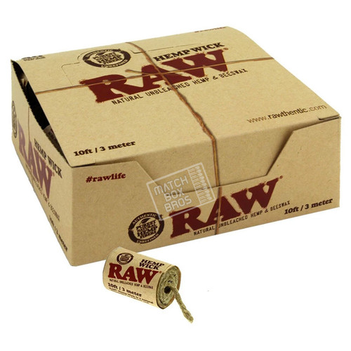RAW Hemp Wick 10ft