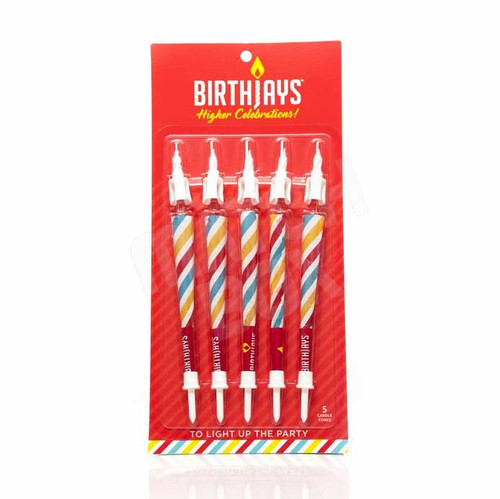 BirthJays Pre Rolled Birthday Candles 1 Pack