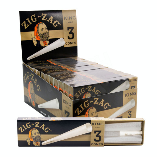 Zig Zag King Size Pre Rolled Cones Box