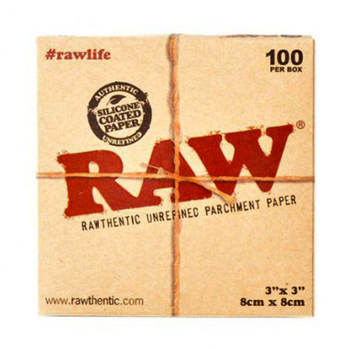 RAW brand parchment square front