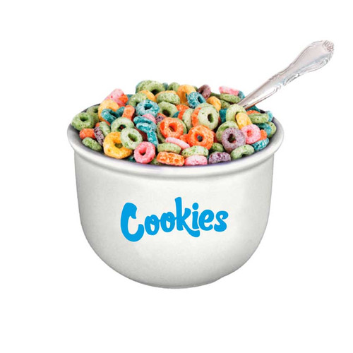 Cookies Ceramic Cereal Bowl - White