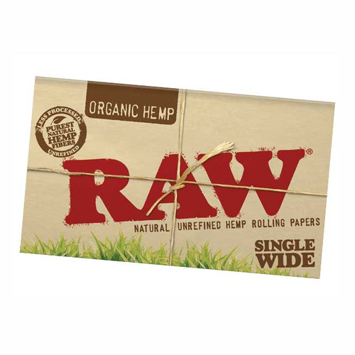 RAW Organic Single Wide Rolling Paper   Double Feed