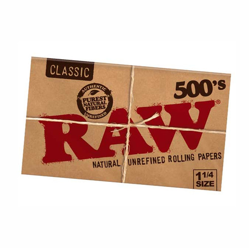 RAW Classic Creaseless 1 1/4 500's Rolling Paper