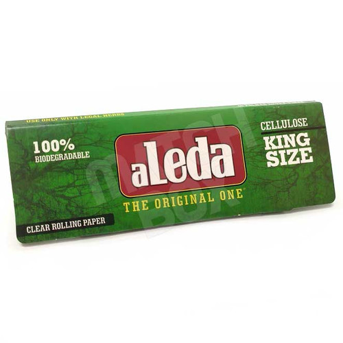 Aleda Green King Size Clear Rolling Paper Single Pack