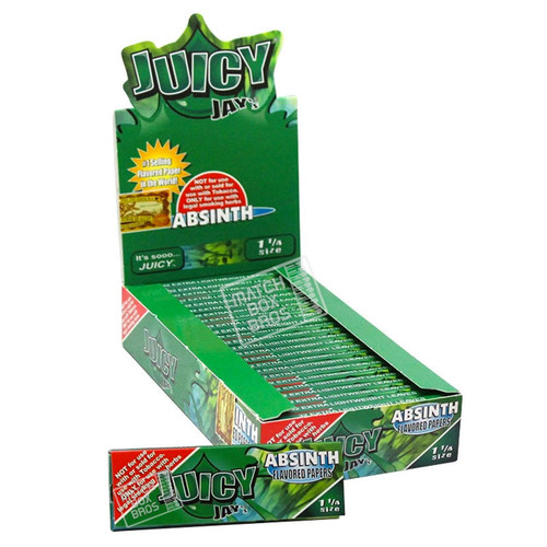Juicy Jay's 1¼ Absinth Flavoured Paper Full Box