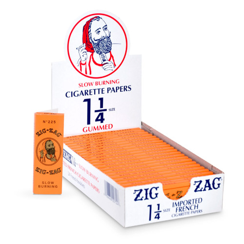 Zig Zag 1 1/4 French Orange Rolling Papers Box