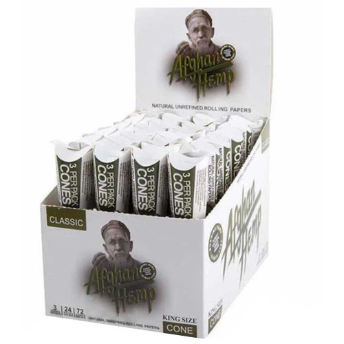 Afghan Hemp Pre-Rolled Cones King Size Full Box