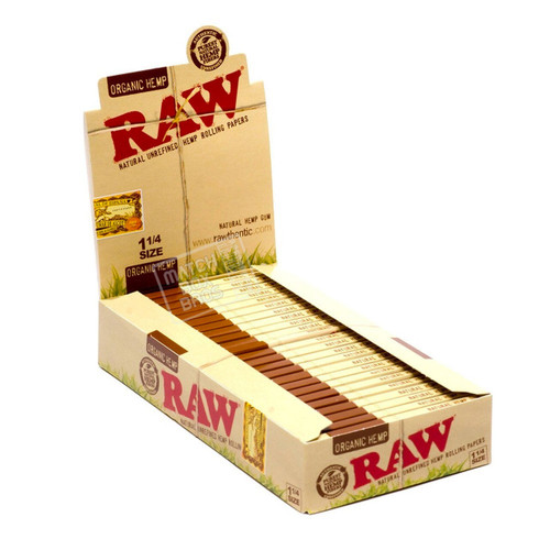 RAW Organic Hemp 1¼ Rolling Paper Open Box