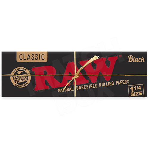 RAW Black 1 1/4 Paper Single Pack