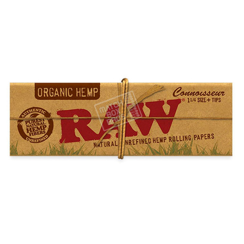 RAW Organic Hemp Connoisseur 1 1/4 Paper + Tips pack
