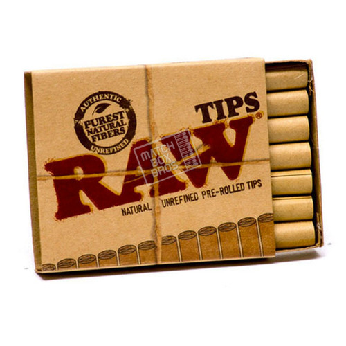 RAW pre-rolled tips box interior
