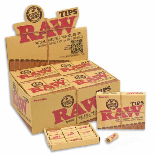 RAW Prerolled Tips Full Box