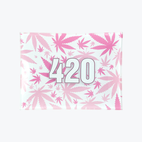 420 PINK GLASS TRAY SMALL