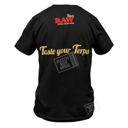 RAW Black Taste Your Terps Tee - Back