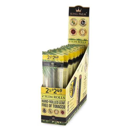 KING PALM 2 SLIM ROLLS FULL BOX