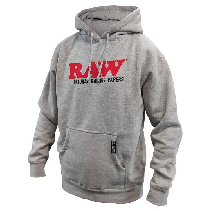 RAW Mens Hoodie OG Heather Gray Front View