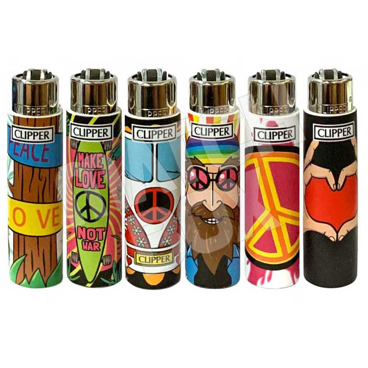 Clipper Hippie Chic 2 Pop Cover Lighters