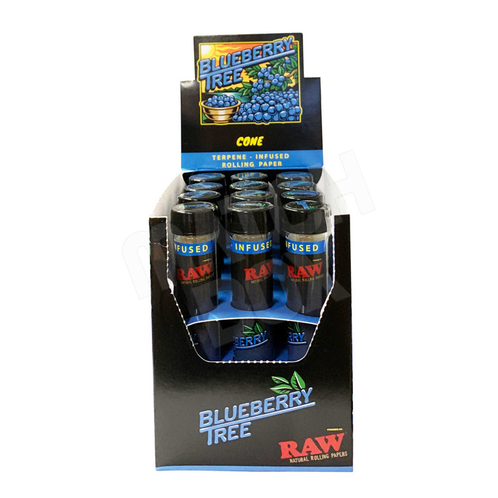 RAW x Orchard Blueberry Tree Terpene Infused King Size Cones