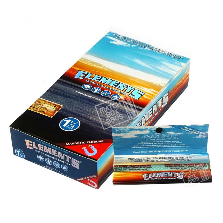 Elements 1¼ Ultra Thin Rice Paper w/ Magnet