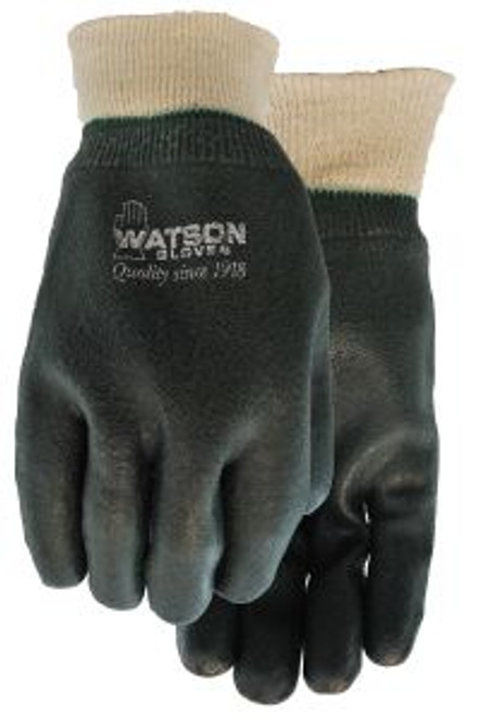 Gloves, coated, knit wrist