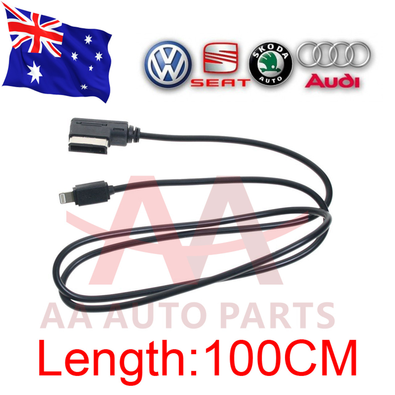 new styles dbc90 55206 Audi AMI MDI MMI Charger Adapter Aux cable Apple iPhone 6 7 Plus