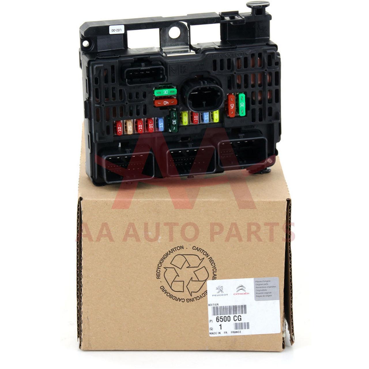 Genuine Peugeot Citroen 30l V6 Engine Fuse Box Part Number 6500cg 407 Location