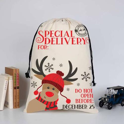 Personalized Reindeer Santa Sack