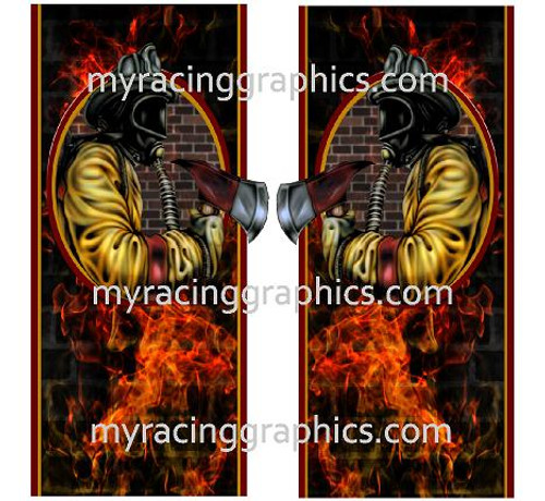 Fire Fighter Truck Bed Bands Decals