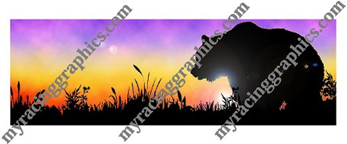Bear at Sunset Window Pref Grapic