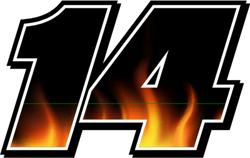 Flames Full Color Number Decal Kit for Race Cars myracinggraphics.com