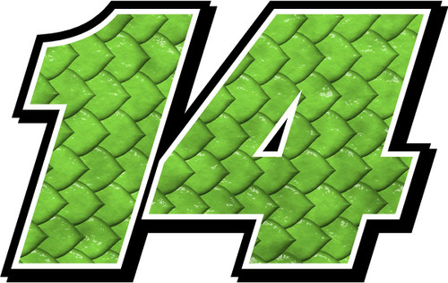 Monster Scales graphics racecar number decal kit Stickers
