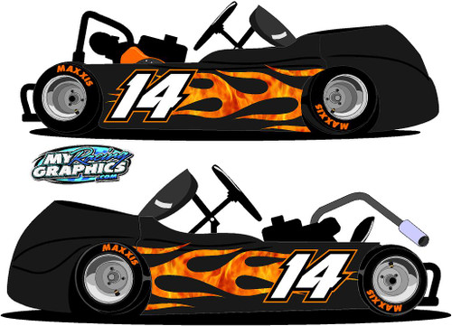 Flame Wrap for Racing Go Kart