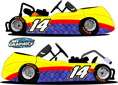 Monster Scales Racing Go Kart Side Graphic