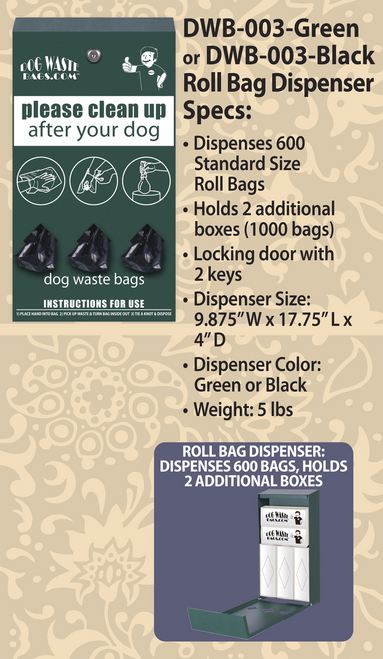 Roll Bag Dispenser – DWB-003