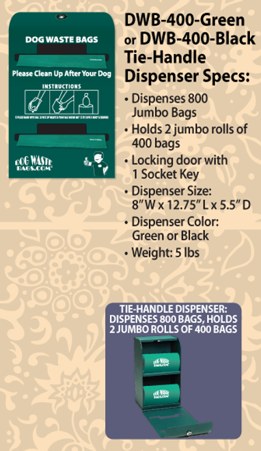 Tie-Handle Bag Dispenser – DWB-400