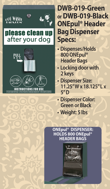ONEpul® Header Bag Dispenser – DWB-019