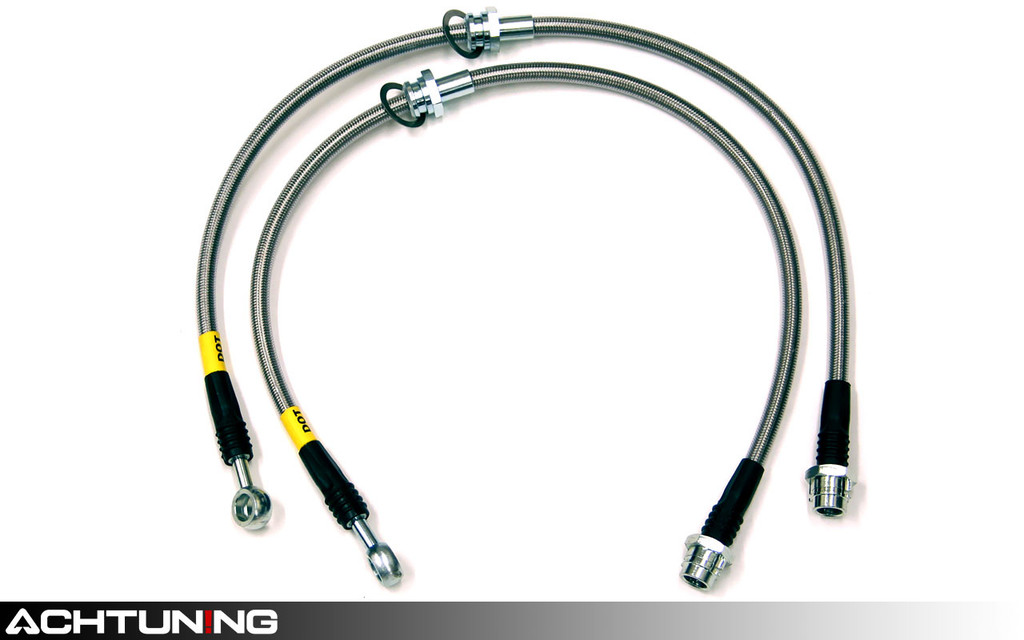 StopTech 950.33004 Stainless Steel Front Brake Lines Audi Mk1 TT 3.2L