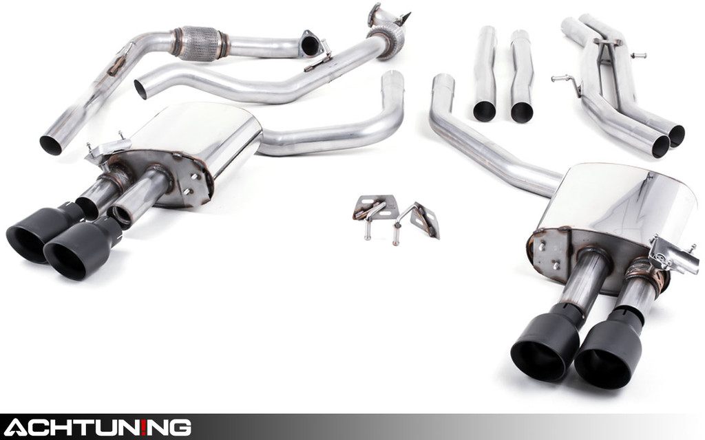 Milltek SSXAU651 Catback Quad Tip Valved Race Exhaust Audi B9 S4 and S5 Non-Sport Diff
