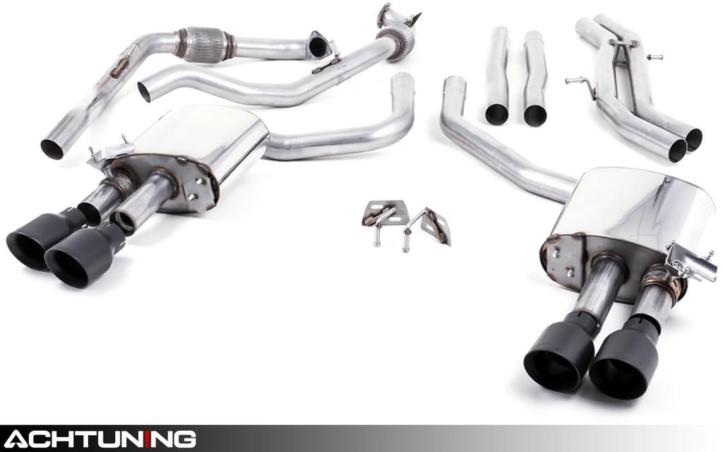 Milltek SSXAU651 Catback Quad Tip Valved Race Exhaust Audi B9 S4 and S5 Non-Sport Diff
