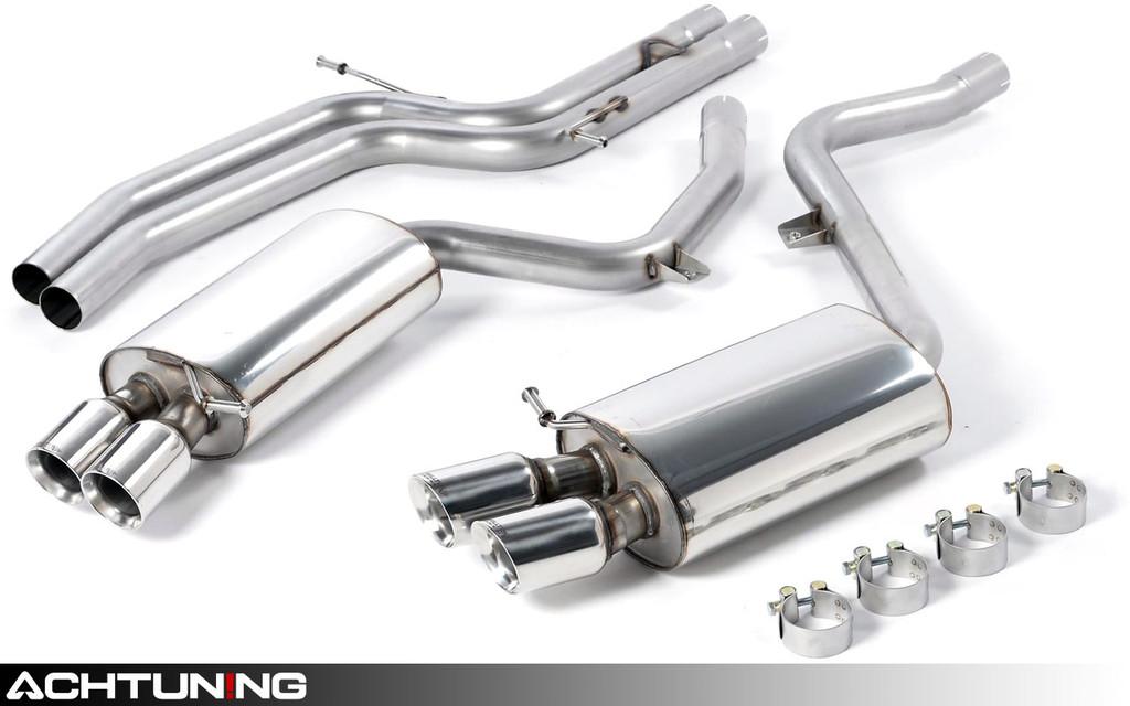 Milltek SSXAU190 Catback Quad Tip Race Exhaust Audi B8 S5 4.2L MT
