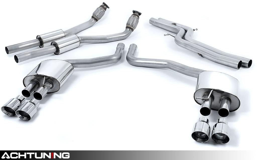 Milltek SSXAU331 Catback Quad Tip Race Exhaust Audi C7 S6 and S7