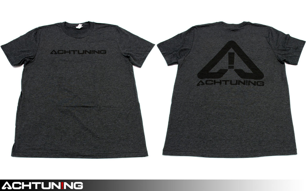 Achtuning Grey T-shirt with Black Reflective Logo